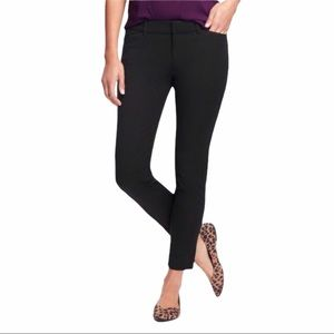 Old Navy Black Pixie Ankle Mid-rise Chino Pants 6
